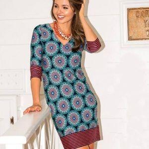 Tracy Negoshian NWT Retro Circles 3/4 Sleeve Dress
